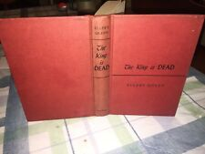 Queen, Ellery THE KING IS DEAD 1st Edition 1952