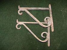 antica coppia  reggi mensola  in ferro battuto non saldate
