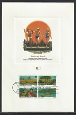 # 2163a (2160-63)  AMERICA'S YOUTH  1985  Fleetwood First Day Proofcard