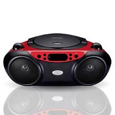 NEW Blackweb BWA17AA003 Bluetooth CD Player Boombox with FM Radio, Red and Black