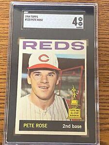 1964 Topps #125 PETE ROSE Trophy Rookie Cincinnati Reds VG-EX SGC 4~SC1-31