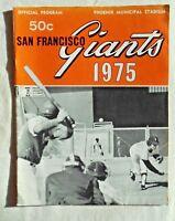 VINTAGE 1975 San Francisco Giants Official Souvenir Program (Very Good)
