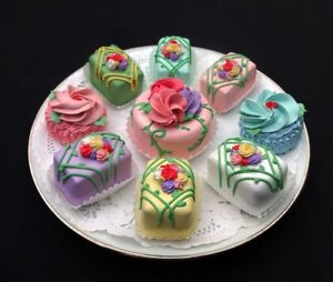 New! 9 Pc. Rose Garden Fancy Pastry Set