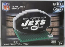 New York Jets BRXLZ Team Logo 3D Toy PUZZLE 255 Pcs SET NFL Ages 12+ GIFT NEW