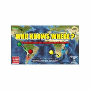 Who knows where? Board Game - Award winning race around the world