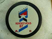 NHL '87 All Star Game Quebec Rendez-vous Official Game Hockey Puck Collect Pucks