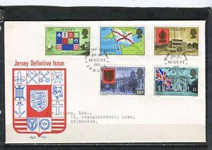 JERSEY - FDC  Armoiries et drapeaux - Y&T n° 142-46°