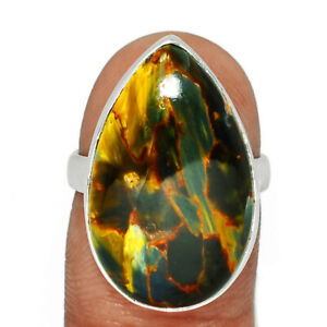 Pietersite - Namibia 925 Sterling Silver Ring Jewelry s.6.5 BR74162