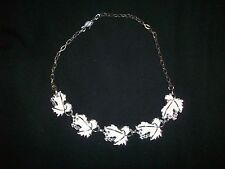 VINTAGE NECKLACE CHOKER SARAH COVENTRY WHISPERING LEAVES