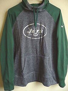 Women's Nike Therma-Fit NFL New York Jets Football Hooded Sweatshirt L 610106