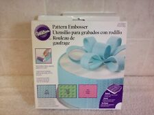 Wilton Cake Decorating Pattern Roller Embossing x 3 ~ Lace ~ Woven ~ Dots