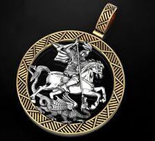 American Ninja Warrior St George Pendant In 925 Sterling silver Signet Dragon