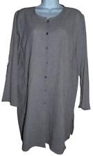 Excellent Beige/Ivory Tweedy Eileen Fisher Long Sleeve Organic Cotton Tunic - XL