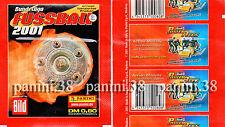"RARE !! ""BUNDESLIGA FUSSBALL 2001"" pochette, packet, tüte, bustina PANINI"