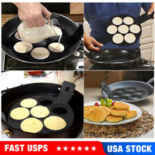 7.5 Non-Stick Flip Pancake Pan Double Side Specialty Omelette Skillet Ceramic Pancake Maker Round Cakes Toast Egg Cookware