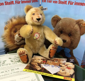 "Steiff DICKY TEDDY BEAR w/VELVET PAWS LE 005640 (1985) Mohair 13"" (Replica 1930)"