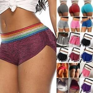 Womens Gym Yoga Skinny Sports Running Shorts Booty Butt Lift Hot Pants Plus Size