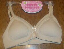 XS 4/5 Girl's Sweet Princess 2 Pack Seamless Padded Bra Set Nude Tan