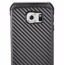 For Samsung Galaxy S7 Edge -HARD HYBRID ARMOR SHOCKPROOF CASE BLACK CARBON FIBER