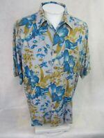 BOCA CLASSICS Men Hawaiian ALOHA shirt pit to pit 26.5 silk camp floral luau
