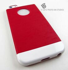 RED WHITE HARD TPU GEL INFLEX SLIM CASE COVER APPLE IPHONE 5 5S SE