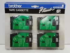 Brother P-Touch TC-1004 Tape Cassette Labels NIP  Black-Clear
