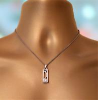 Charles Rennie MacKintosh  Scotland Silver Faux Diamond Pendant & Chain C/W Box