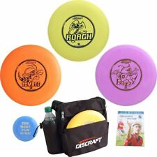 Complete DISCRAFT DISC GOLF GIFT SET - Weekender Bag, Discs, Mini Marker, Rules