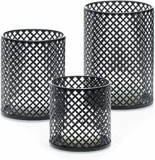 Decorative Metal Candle Holders Set of 3 - Complementary 3 Votive Candles