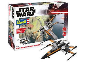 Star Wars Poe Dameron Boosted X-Wing 1:78 Plastique Model Kit Revell