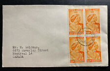 1948 Livingston N Rhodesia First Day cover To Montreal Canada Silver Weeding