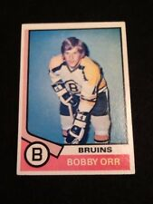 1974-75 Topps Bobby Orr #100 Hockey Card VG Boston Bruins Faded