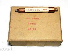 boite 18 fusibles de rechange 1 ampère 1000 volts US Signal-Corps
