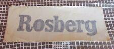 Decal Keke ROSBERG Formula 1 F1 decalcomania  sticker anni 80 - 24 cm adesivo