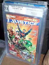 Justice League #1 PGX SS 9.8 Signed Jim Lee New 52 2011 Superman Batman CGC