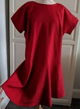 Autograph Bnwt Red Drop Waist Dress 16 Party Occasion flare evening