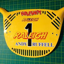 More details for raleigh andy ruffell replica bmx race plate sticker plate not included :)