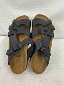 Birkenstock Size L8 M6 Black Slip On Strappy Sandals