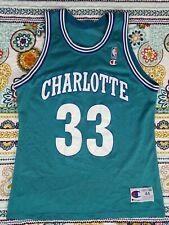 Alonzo Mourning Charlotte Hornets Champion Vintage Jersey Sz 44 L 90s NBA