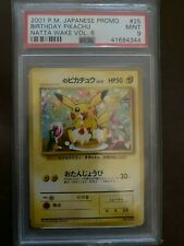 2001 Pokemon Japanese Promo Natta Wake Vol. 6 Birthday Pikachu #25 PSA 9 MINT