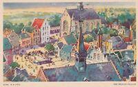 (G) 1933 Chicago World's Fair - Bird's Eye View of the Belgian Village