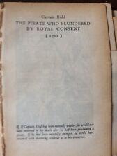 L1h ephemera 1930s Article Famous Trial Captain Kidd 1701