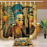 Egyptian theme Waterproof Fabric Shower Curtain +12hooks Bathroom mat home decor