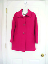 $309 NWT TALBOTS HOT PINK THINSULATE WOOL COAT JACKET 14WP 14W Petite  (G798_A)