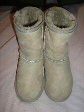 EMU UK 4 UE 37 Botas de piel de oveja de ante gris RRP £ 150.00