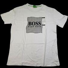 NEW Hugo Boss Large L Mens Graphic T Shirt Crew Neck Short Sleeve White Logo