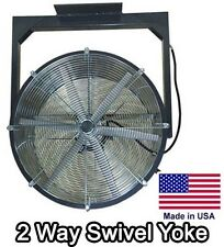 """24"""" Ceiling Fan - 5,200 CFM - 115V - 1/4 HP - 2 Way - 2 Blade - Totally Enclosed"""