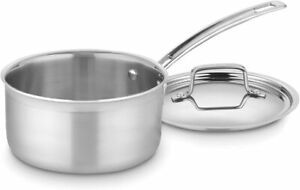 Cuisinart MultiClad 2QT Saucepan w/ Cover (Oven & Dishwasher Safe)