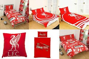 LIVERPOOL DUVET COVER SET - CUSHION BEDDING FOOTBALL GIFT QUILT PULSE PATCH