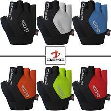 Men Cycling Gloves Bike Half Finger Bicycle Gel Padded Fingerless Sports DEKO